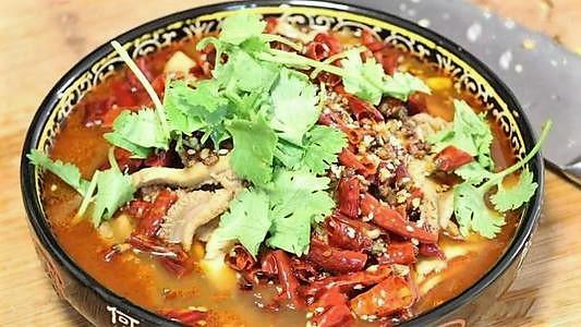 166BT. MaLa Boiled Beef Tripe 水煮牛肚丝