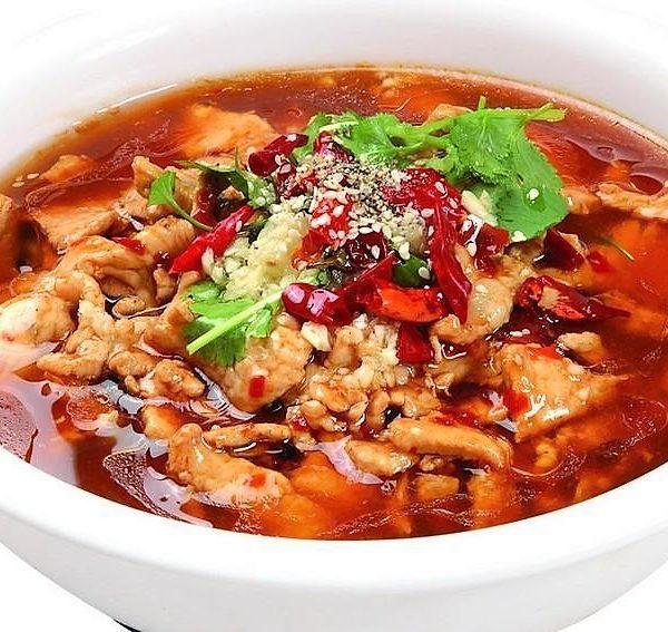 166P. MaLa Boiled Pork 水煮猪肉片