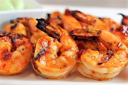 36. Crevettes grillées à l'ail 蒜蓉煎虾