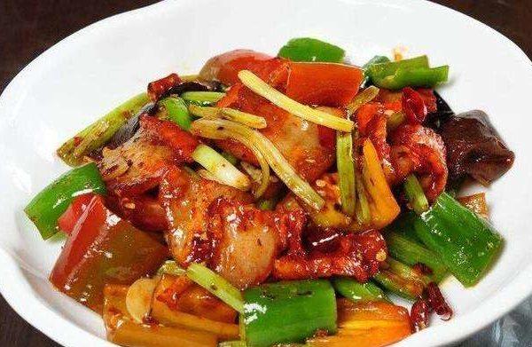 55. Canard sauce piquante 炒辣鸭片