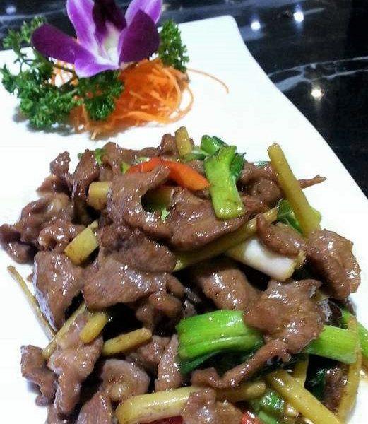 77. Filet d'agneau au gingembre 姜葱羊肉