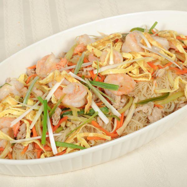 99C. Vermicelles Singapour aux Crevettes 新洲虾炒米