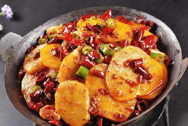 133TO. Dry Pot Potatoes 麻辣干锅土豆片
